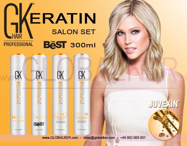 Keratin Hair salon set GK Hair The Best 300ml Global Keratin Juvexin