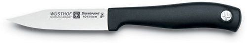 Emerilware by Wusthof Clip Point Paring Knife by Wusthof. $9.95. High Carbon German stain-resistant steel. Synthetic nonslip handles.. Made in Solingen Germany. Emerilware knives are Designed in conjuction with Wusthof and Emeril. Laser cut from a single piece of German steel. Emeril has used and loved Wusthof knives for many years. Emeril has now teamed up with Wusthof to create a new line of knives that appeal to Emeril's demanding standards while offering a good value...