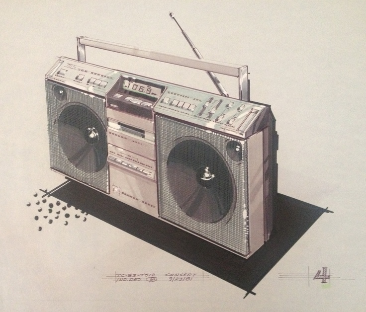 #4 version of concept boombox from 1981 by creator Randy Culbertson.