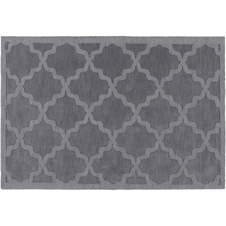 Surya Central Park Abbey Trellis Rug, Grey