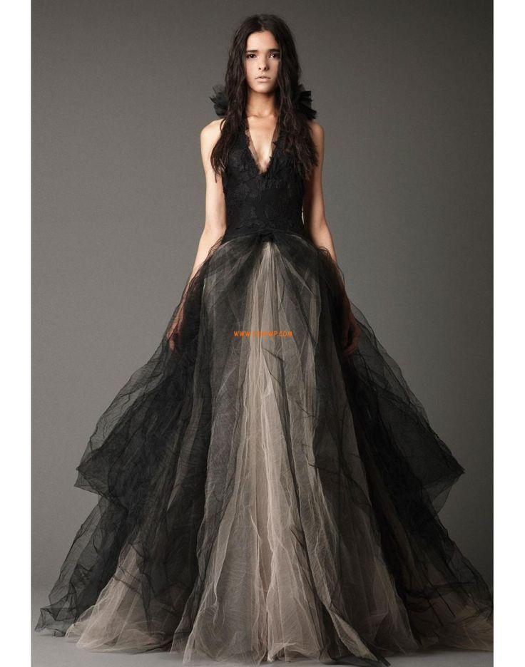 Výstřih do V Tyl Podzim Designer Svatební šaty