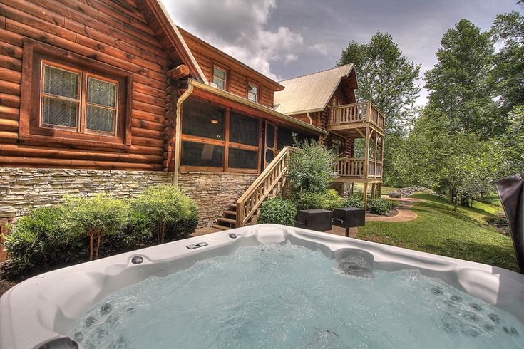 Creekside lodge is nestled just outside the great smoky for Premier smoky mountain cabin rentals