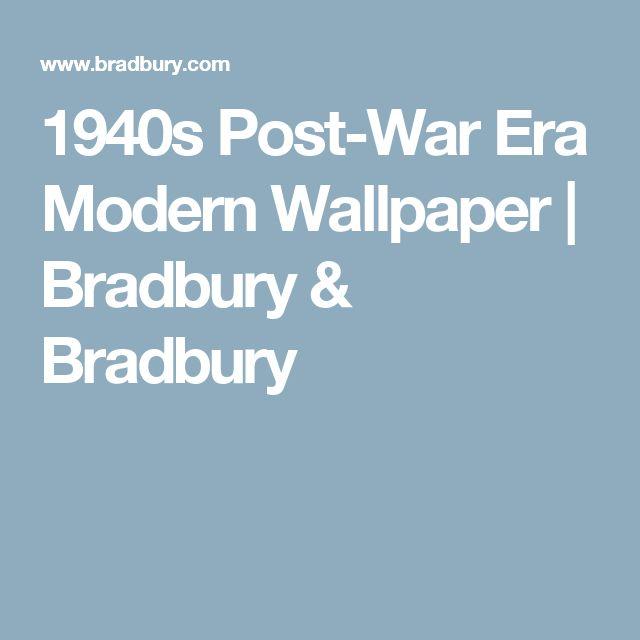 1940s Post-War Era Modern Wallpaper   Bradbury & Bradbury
