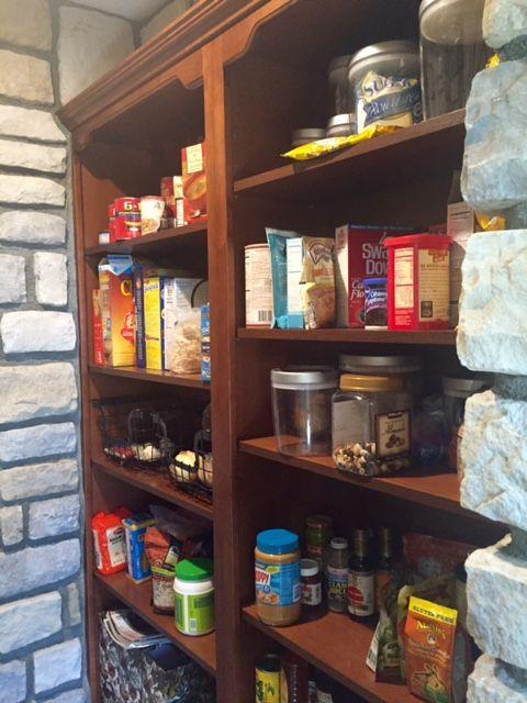 wine cellar inspired pantry
