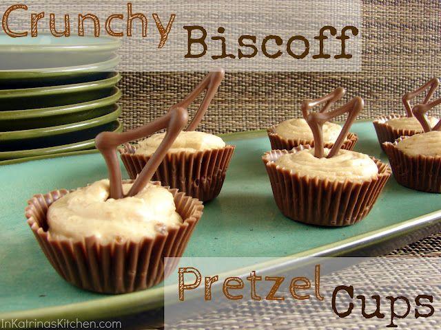 biscoff!: Pretzels Cups, Giveaways Close, Katrina Kitchens, Biscoff Pretzels, Chocolates Cups, Decade Desserts, Sweet Stuff, Crunchi Biscoff, Sweet Life