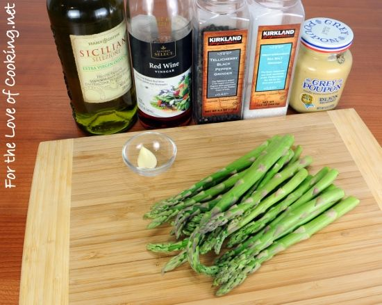 sauteed asparagus with dijon vinaigrette | Food | Pinterest