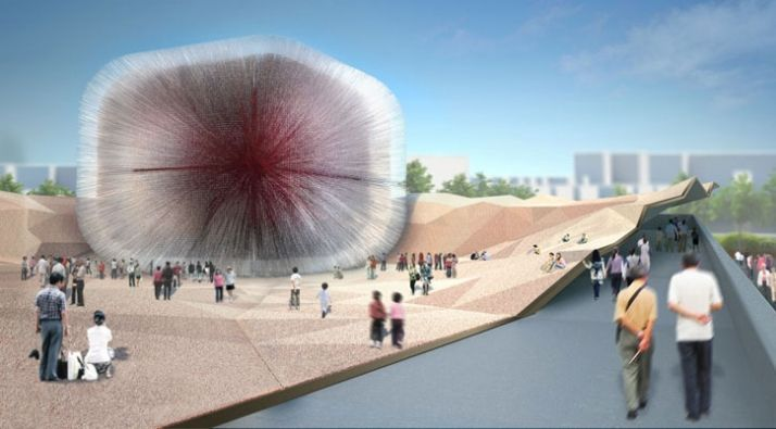 Seed Cathedral for the UK Shanghai Pavilion by Heatherwick studio