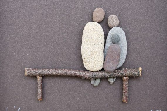 ≈ Pebble Art - this is so sweet!