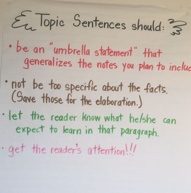 best topic sentences ideas teaching paragraphs  ela anchor charts topic sentences