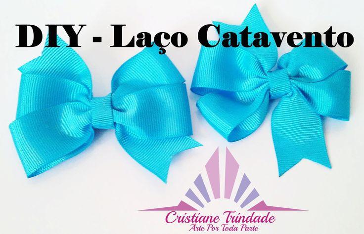 DIY -  Laço Catavento. loop in ribbon