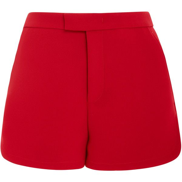 Red Valentino High Waist Shorts (20.995 RUB) ❤ liked on Polyvore featuring shorts, red, red shorts, high waisted shorts, high-waisted shorts, lela rose and highwaist shorts