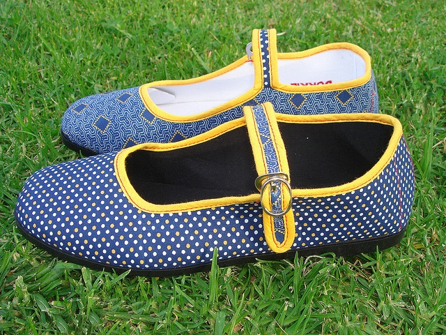 Blue and Yellow Twin by Bokkie Shoes