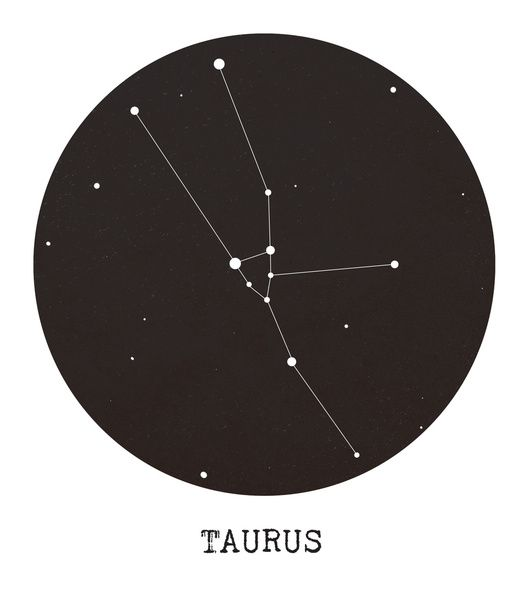 Taurus Star Constellation Canvas Print