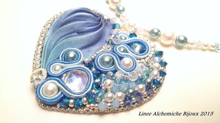 Cuore in Seta SHIBORI | CINDERELLA inspired Jewelry