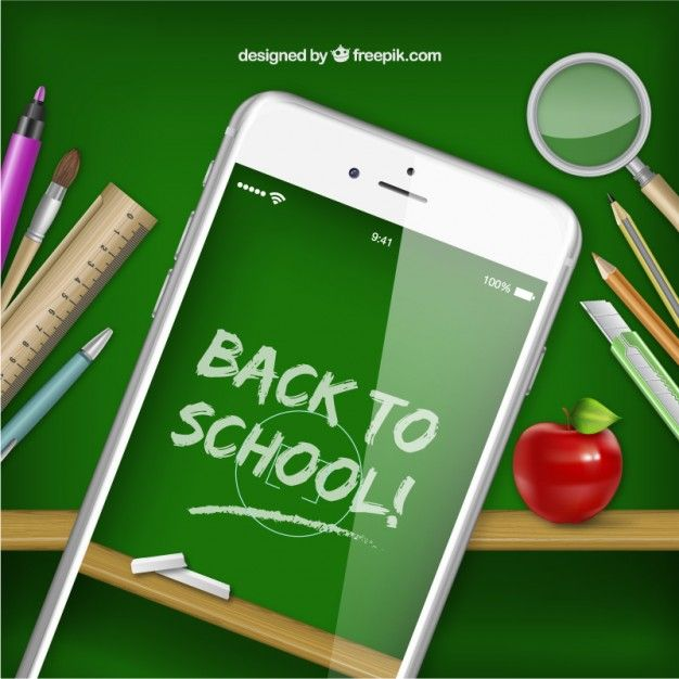 Free vector Smartphone with back to school on screen #17181