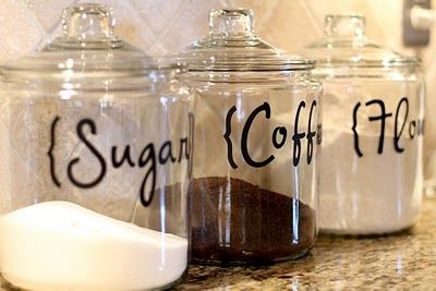 DIY kitchen canisters.