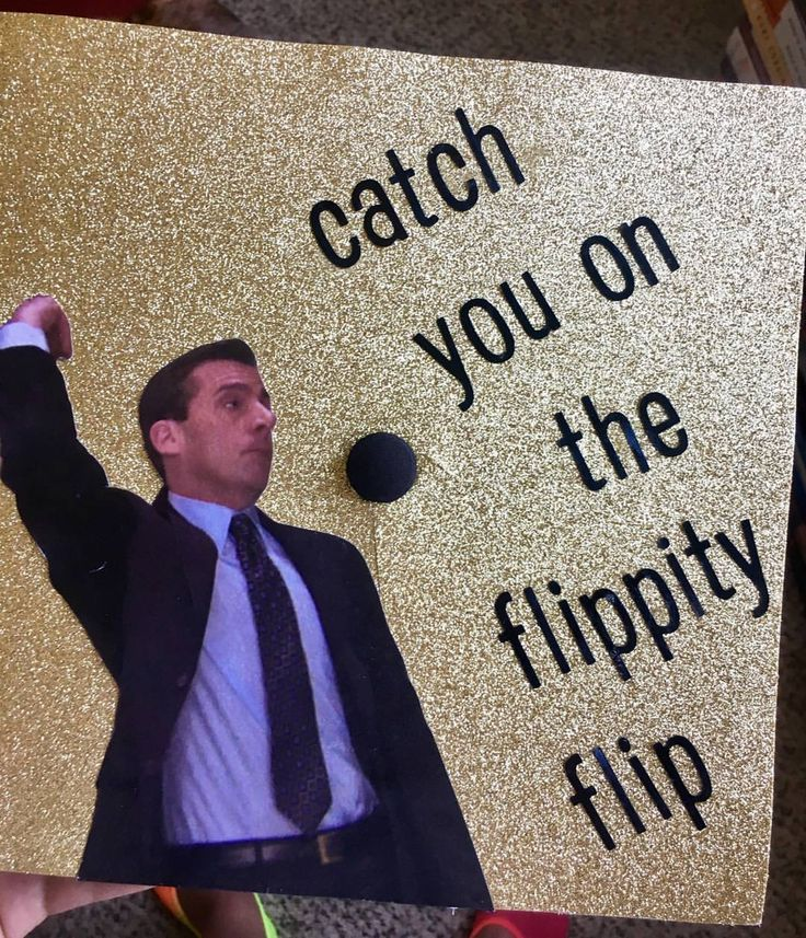 """May your hats fly as high as your dreams"" the office graduation cap"