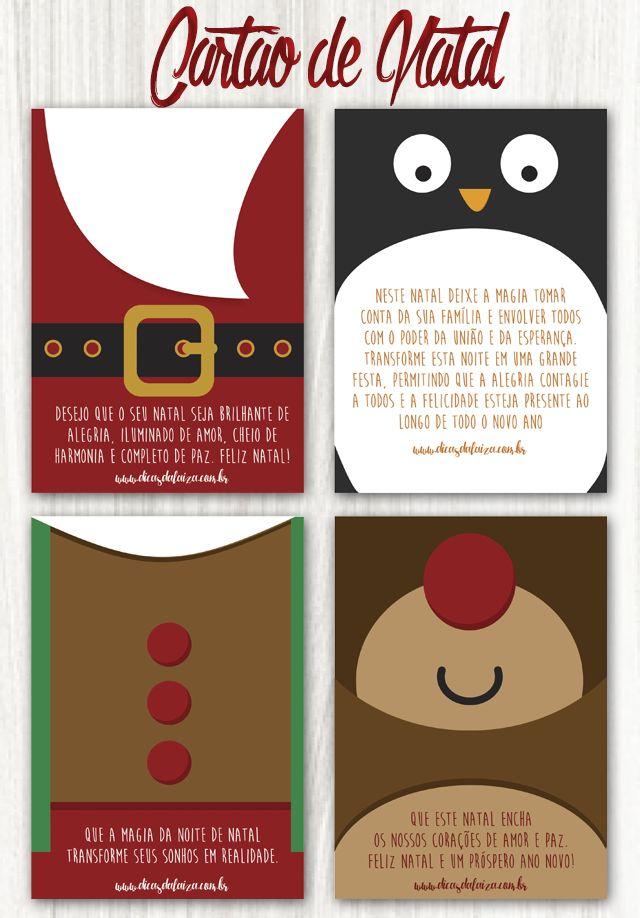 Dicas da Laiza: Cartão de Natal para Imprimir