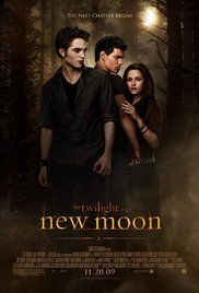 The Twilight Saga:No:2 -  New Moon  - Edward leaves Bella after an attack that nearly claimed her life, and in her depression she falls into yet another paranormal relationship - this time with werewolf Jacob Black.  Stars: Kristen Stewart, Robert Pattinson, Taylor Lautner