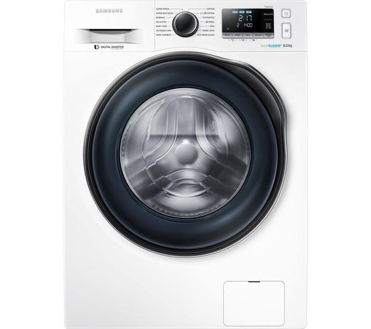 samsung ecobubble ww80j6410cw front-loading washing machine - 8 kg