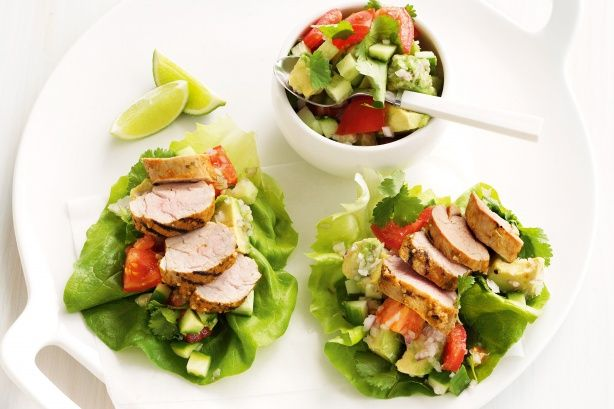 Tex mex lettuce cups with avocado & tomato salsa main image