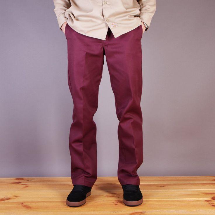 Bordowe chinosy Dickies Original 874 Work Pant Maroon / www.brandsplanet.pl / #dickies streetwear