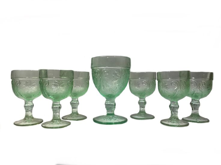 New in our shop! Indiana Glass Tiara Chantilly Green Sandwich Pattern Goblet Set https://www.etsy.com/listing/505989313/indiana-glass-tiara-chantilly-green?utm_campaign=crowdfire&utm_content=crowdfire&utm_medium=social&utm_source=pinterest