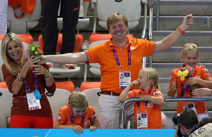 Olympic Games 2012 London: If there was a gold medal for best supporters, it's likely it would go to the Dutch royal family. In recognition of Maxima's and her daughter's display of passion, the swimmers threw her their bouquet from the podium.