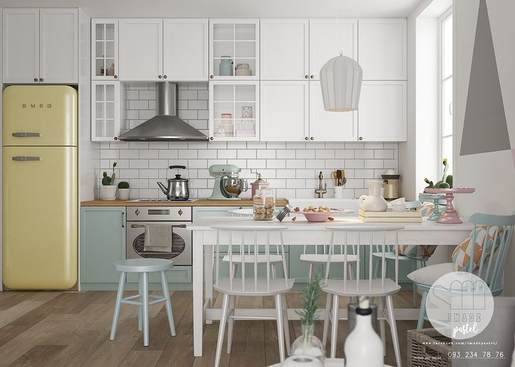 It's Imade Pastel who designed these interiors of Scandinavia in soft pastel colors, an ideal decoration in this season, where you want some shades evocative of fine weather.