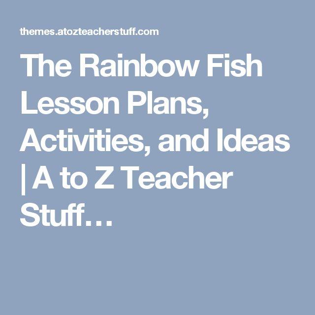 25 b sta the rainbow fish id erna p pinterest for Rainbow fish lesson plans