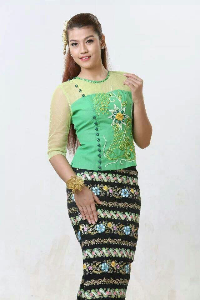 21 Best Images About Myanmar Fashion On Pinterest