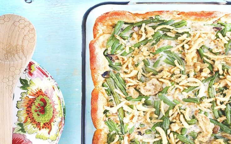 Who doesn't love a mean green been casserole? Thanksgiving just wouldn't be the same without this throwback staple. It's a side dish that's nearly impossible to mess up, which probably lends to its ever-growing popularity.Traditionally, green bean casserole ismade simply with cream of mushroom soup, green beans, crispy onions and a small handful of spices [...]