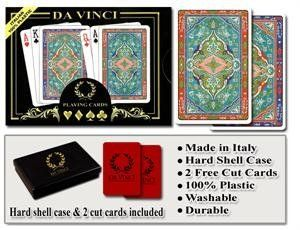 Da Vinci Sorrento - Italian 100% Plastic Playing Cards by Da Vinci. $16.29. Da Vinci 100% Plastic playing cards are the world's finest playing cards. Da Vinci cards are designed and manufactured in Italy by Modiano. Since 1868, the Modiano brand has been synonimous with quality playing cards. Da Vinci plastic playing cards are manufactured using the finest plastic and are comparable or better than both KEM or Copag cards and at less than half the price of Kem cards. Da Vin...
