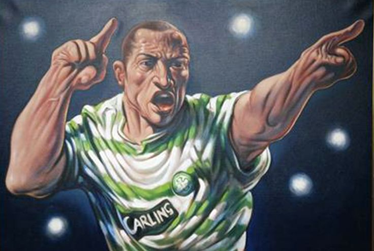 Henrik Larsson by Peter Howson.