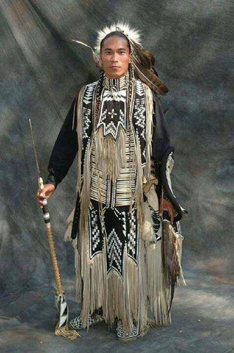 Native American in full regalia - Via Kris Schwiermann