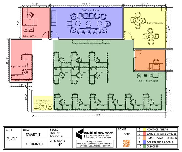 Office floor plan for an office with large meeting room for Cubicle floor plan