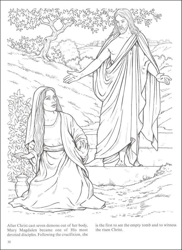 Jesus Christ Exorcising Seven Demons From Mary Magdalene Find This Pin And More On Realistic Bible Coloring Pages