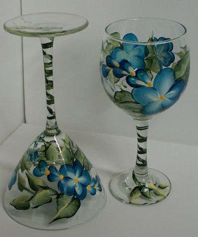 I learned how to paint wine glasses, and now I am obsessed. It's so easy, and they make great gifts!
