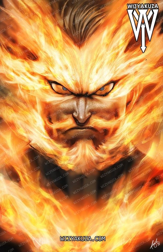 I used this image from the manga to make the wallpaper: Endeavor🔥 | Hero academia characters, My hero academia ...