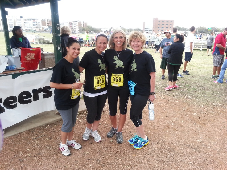 Rebecca, Anna, Irene and Peggy - Team Turtles :) during the 2013 HFTC 5K