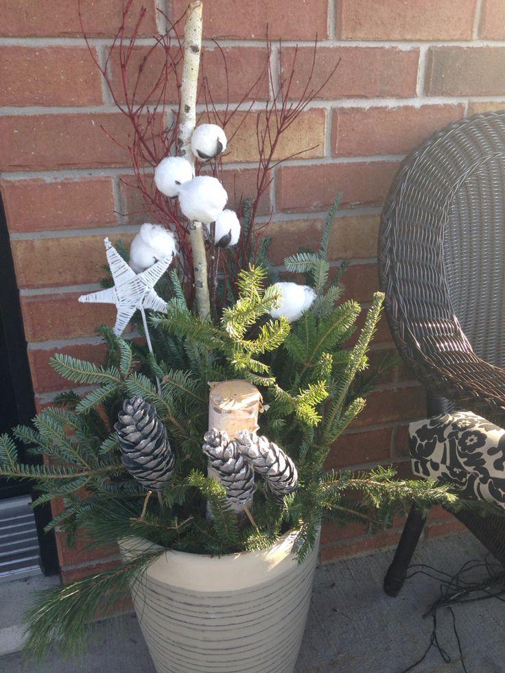 D coration ext rieure pour no l sapin bouleau branches - Decoration exterieure noel ...