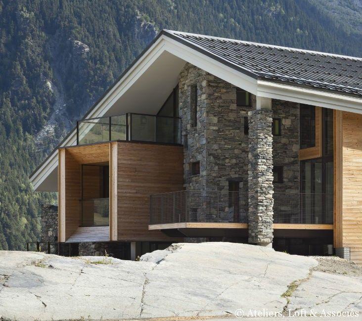 chalet contemporain chalet pinterest chalets atelier et magazines. Black Bedroom Furniture Sets. Home Design Ideas