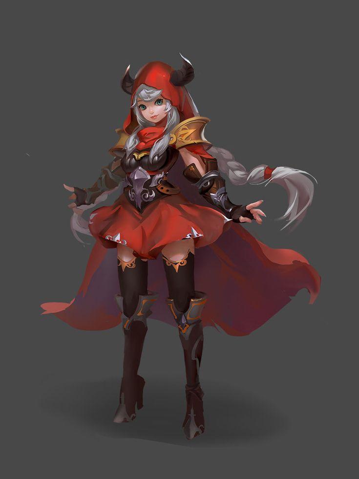 小红帽, mu shenle on ArtStation at https://www.artstation.com/artwork/-ff861424-92f3-485a-b73c-bea026e4e9c0