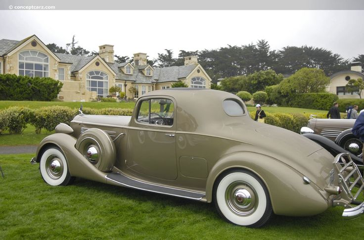 1937 Packard Twelve Model 1507 Stationary Coupe