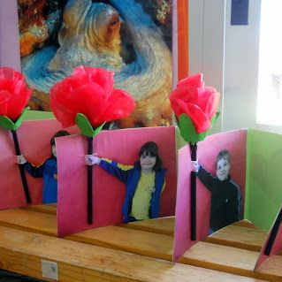 Rosa de Sant Jordi amb la foto dels nens