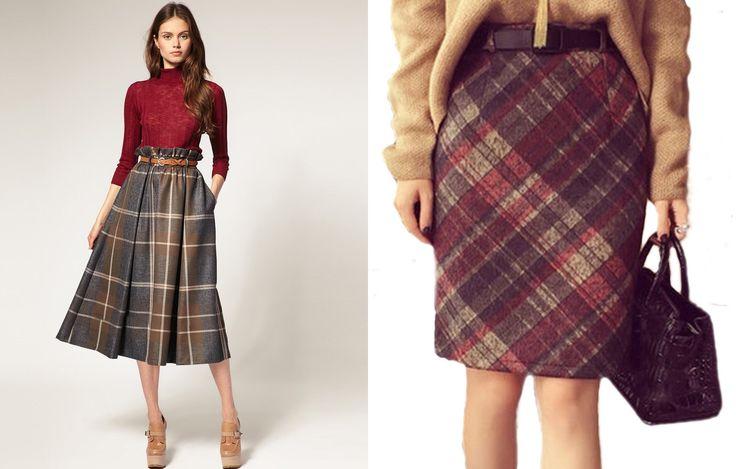 С чем носить модные шерстяные юбки в пол макси и модели карандаш