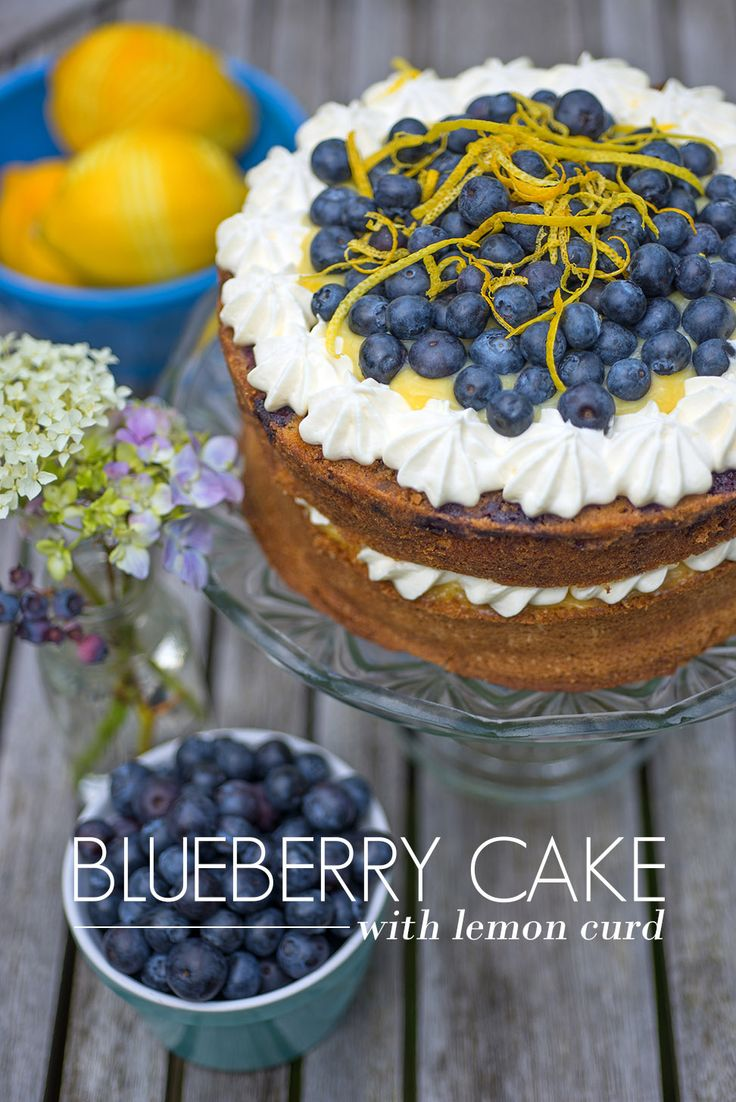 Blueberry Cake with Lemon Curd