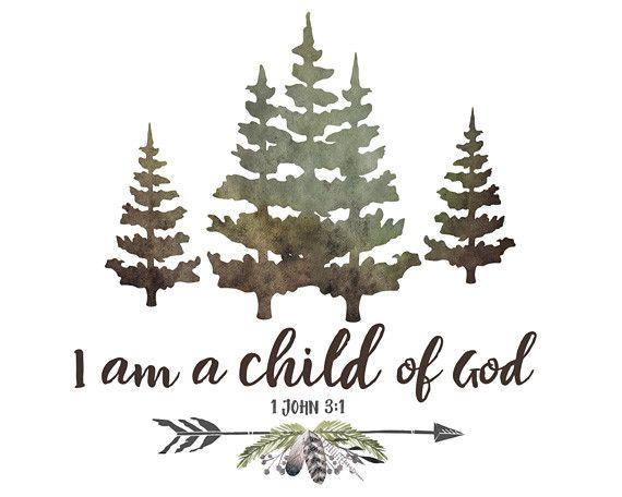 I Am a Child of God - Rustic Boys Nursery Art
