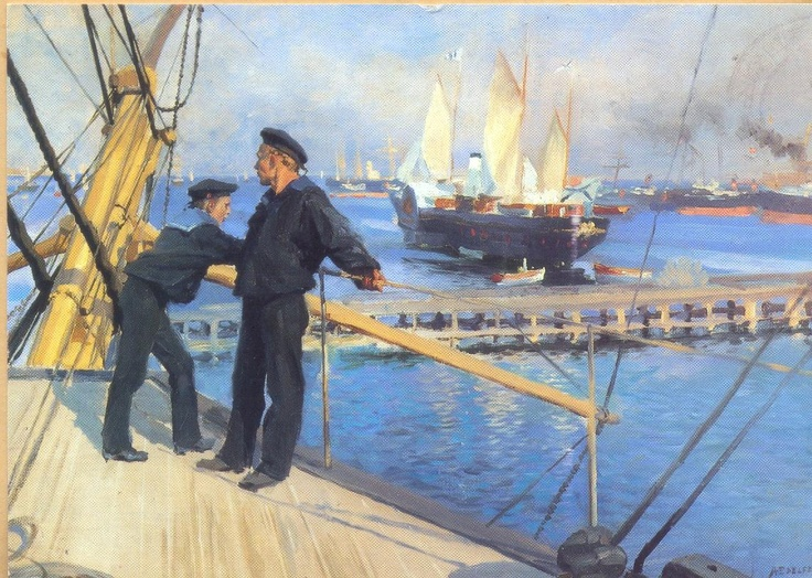 Anchorage at Copenhagen - Albert Edelfelt