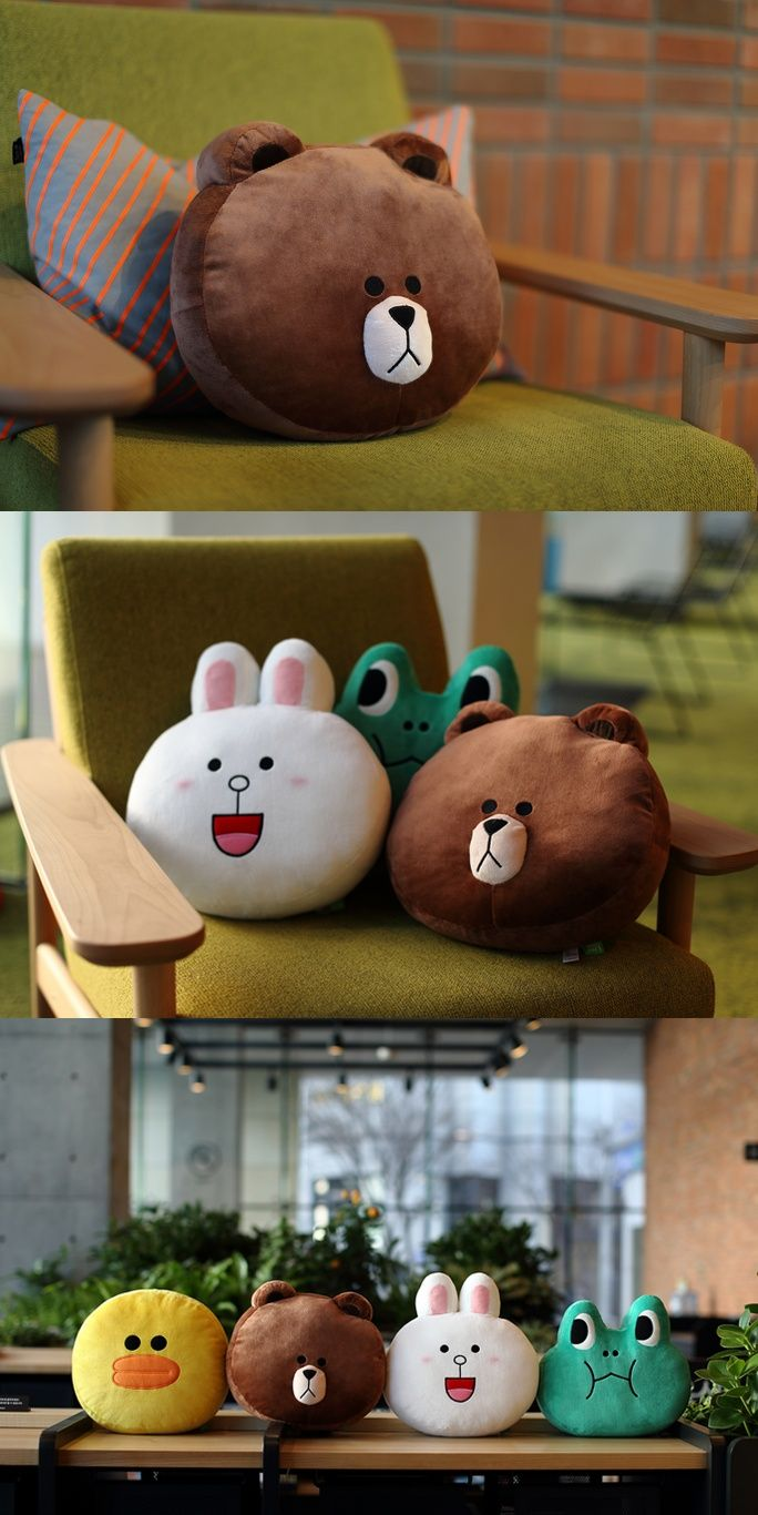 [LINE FRIENDS Official Goods] Brown Cushion